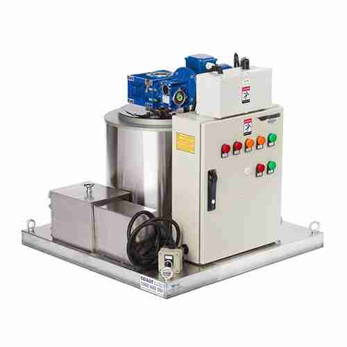 grant ice systems FF0.6-E flake ice machine head with control panel