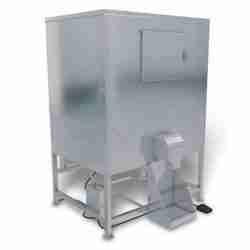 kloppenberg DISP1000 stainless steel ice storage bin with dispenser bagger
