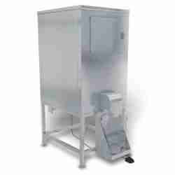 kloppenberg DISP500 stainless steel ice storage bin with dispenser bagger