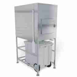 stainless steel ice storage bin and transport system