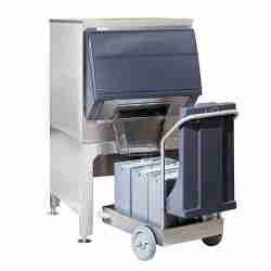 follett DEV500SG stainless steel single door ice storage dispensing and transport system