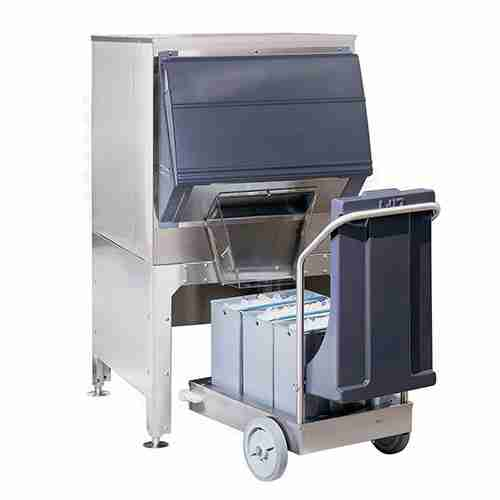 follett DEV700SG stainless steel single door ice storage dispensing and transport system
