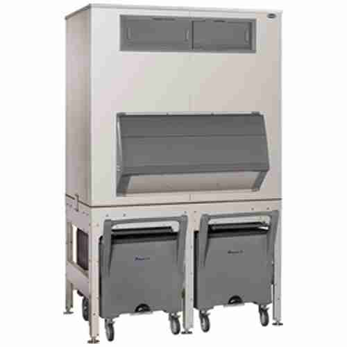 follett ITS2250SG stainless steel ice storage dispensing and transport system with smart carts