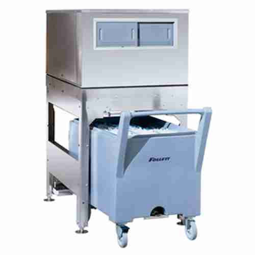 follett ITS500NS stainless steel ice storage dispensing and transport system with smart cart