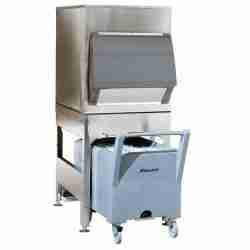 follett ITS700SG stainless steel ice storage dispensing and transport system with smart cart