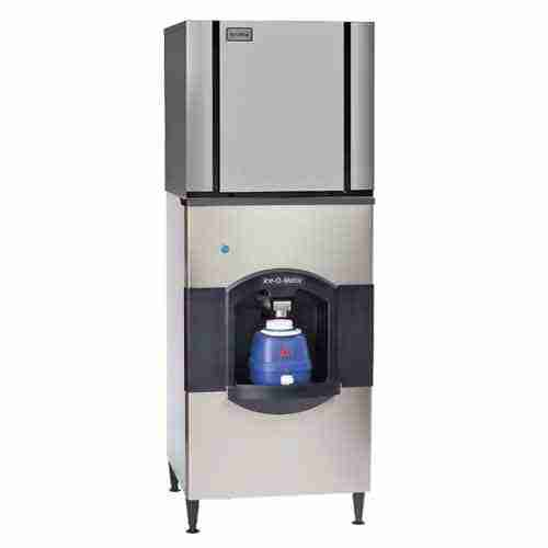 commercial ice maker and ice dispenser stainless steel