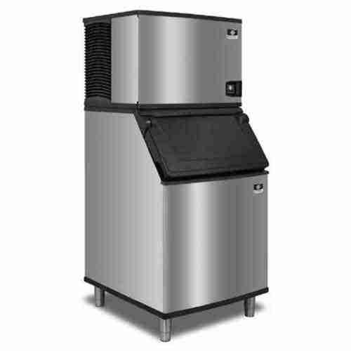 Manitowoc ice machine on Manitowoc ice storage bin